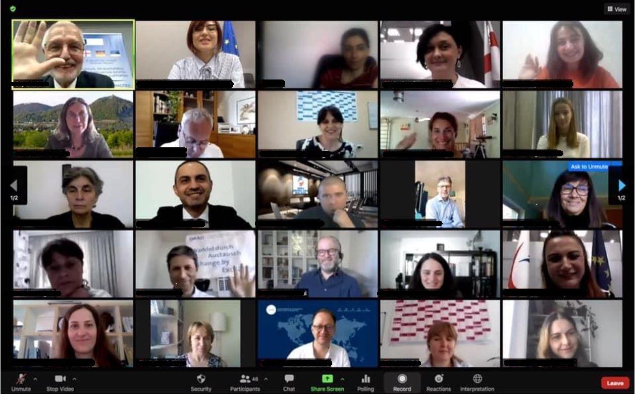 Virtuelle Abschlusskonferenz in Georgien